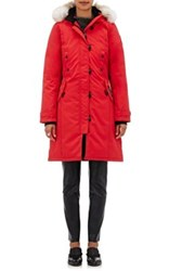 Canada Goose Women's Kensington Fur Trimmed Parka Red