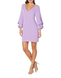 Laundry By Shelli Segal Bell Sleeve Shift Dress Lavender