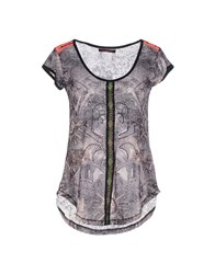 Custo Barcelona Topwear T Shirts Women Steel Grey