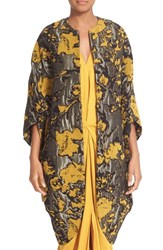 Zero Maria Cornejo Women's Koya Abstract Floral Jacquard Coat