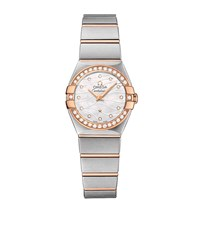 Omega Constellation Quartz Mother Of Pearl Watch Unisex Silver