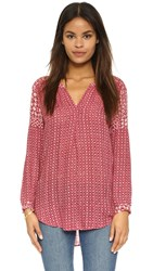 Velvet Alima Casablanca Print Tunic Red Cream