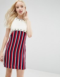 Sister Jane Bonbon Dress In Stripe Multi