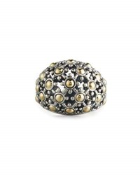 John Hardy Jaisalmer Silver And 18K Gold Dome Ring Size 7