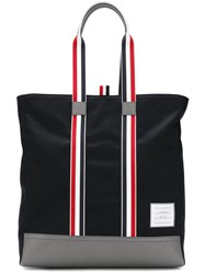 Thom Browne Leather Base Unstructured Tote Bag Blue