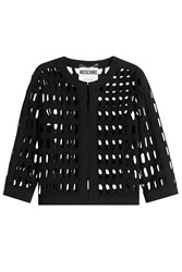 Moschino Cardigan With Cut Out Detail Black