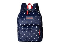 Jansport High Stakes Navy Moonshine Star Spangled Plush Backpack Bags