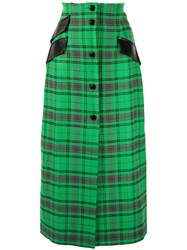Yang Li Plaid Midi Skirt 60