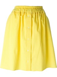 Carven A Line Buttoned Skirt Yellow And Orange