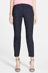 Petite Women's Nydj 'Clarissa' Colored Stretch Ankle Skinny Jeans Dark Enzyme