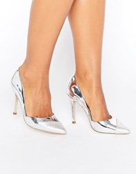 Miss Kg Caitlyn Contrast Court Silver