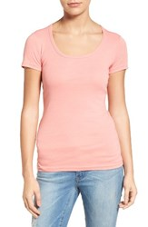 Caslonr Women's Caslon Short Sleeve Scoop Neck Tee Pink Blossom