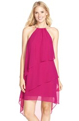 Women's Laundry By Shelli Segal Asymmetrical Chiffon Shift Dress