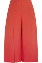 Chalayan Gaucho Split Front Crepe Culottes Red