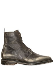 Thom Browne Sanded Leather Oxford Ankle Boots