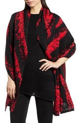Ming Wang Hope Plaid Wrap Black Bushberry