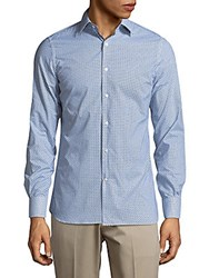 J. Lindeberg Daniele Slim Fit Button Down Shirt Blue Purple