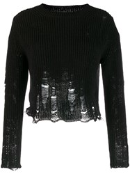 Song For The Mute Distressed Detail Sweater Black