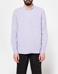 Our Legacy Shawl Zip Shirt Orchid Cotton Linen