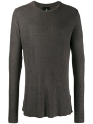 Thom Krom Round Neck Jumper Grey