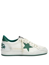 Golden Goose Ball Star Low Top Leather Trainers Green Multi