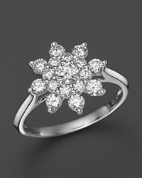 Bloomingdale's Diamond Cluster Star Ring In 14K White Gold 1.05 Ct. T.W.