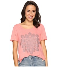 Lucky Brand Studded Lotus Tee Shell Pink Women's T Shirt