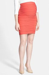 Tees By Tina Women's 'Line' Maternity Skirt Coral