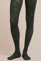 Anthropologie Pressed Petal Tights Green