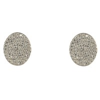 Latelita London Oval Disc Sterling Silver Earring White Silver