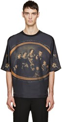 Dolce And Gabbana Deep Purple Family Portrait T Shirt
