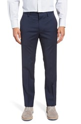 Bonobos Jetsetter Slim Fit Flat Front Solid Stretch Wool Trousers Bright Navy