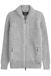 Dsquared2 Knitted Cardigan With Alpaca And Virgin Wool Grey