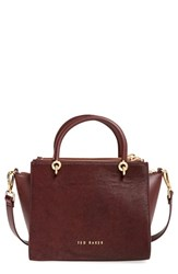 Ted Baker London 'Haylie' Leather And Genuine Calf Hair Crossbody Tote Bag
