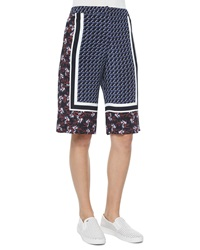 Mother Of Pearl Kidd Border Print Silk Shorts