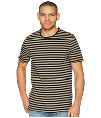 Threads For Thought 4 Kane Stripe Tee Brindle T Shirt Brown