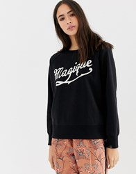 Maison Scotch Magique Print Sweatshirt Black