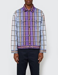 J.W.Anderson Check Printed Canvas Jacket Mulberry
