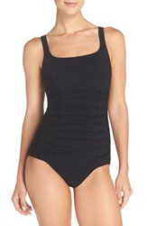 Gottex Women's Profile By Shirred Waist One Piece Swimsuit