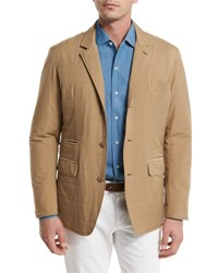 Loro Piana New Cloudy Quilted Blazer Jacket Blue