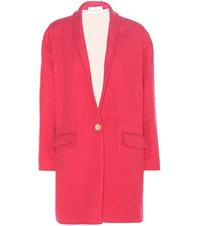 Etoile Isabel Marant Edilon Wool Blend Coat Pink
