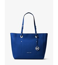 Walsh Large Saffiano Leather Tote Electric Blue