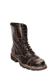 Diesel Steel Toe Vintage Effect Leather Boots