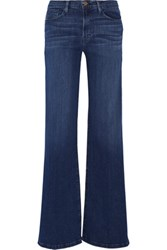 Frame Le Capri High Rise Wide Leg Jeans Dark Denim
