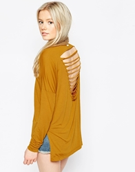 Rvca Long Sleeve T Shirt With Ladder Back Buckthorn