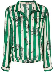 Morgan Lane Ruthie Striped Top Green