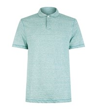Michael Kors Linen Polo Shirt Male Green