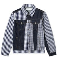 J.W.Anderson Jw Anderson Gingham Patchwork Denim Jacket Blue