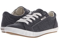 Taos Star Charcoal Washed Canvas Women's Lace Up Casual Shoes Black