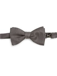 Eton Of Sweden Embroidered Silk Bow Tie Black